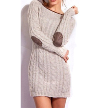 Perself Sweaters Twisted Pattern Long Sleeve Sweater Knitwear Pullover Jumper Knitted Casual Dress New Women Lady Celeb Elegant