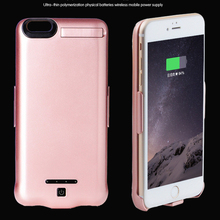 10000mAh Portable Power Bank Charger External Battery Backup Phone Back Case Powerbank Cover For iPhone 7 7plus 4.7'' 5.5'' inch(China)