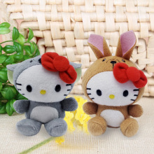 Kawaii Cartoon 10/18cm Koala & Kangaroo Hello Kitty Cat Plush Soft Doll KT Animal Stuffed Toy for Baby Kids best Birthday Gifts(China)