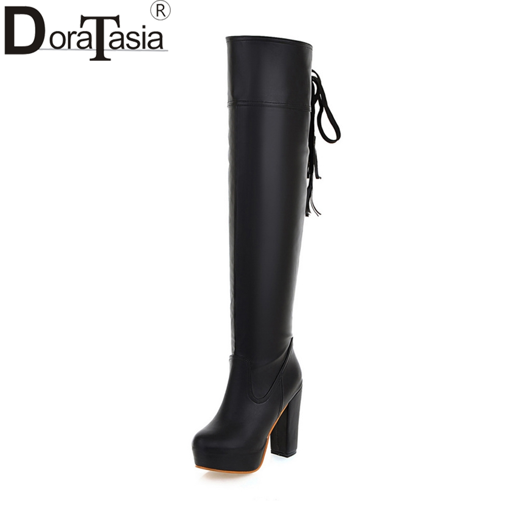 DORATASIA 2018 Large Sizes 34-48 Customization Party Over The Knee Boots Trendy Style High Heels women
