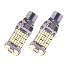 2PCS Super Bright T15 W16W 921 45 SMD LED 4014 Car Auto Canbus Marker Lamps Reading Light Interior Lighting Bulb