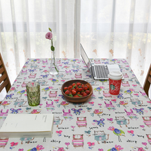 2017 New Linen Table cloth Children Tablecloth Pastel Cartoon Printed Tablecloth Table Cover manteles para mesa Free Shipping