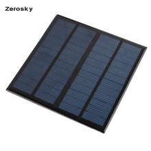 Zerosky Solar Panel 12V 3W High Efficiency Mini Solar Panel Module Solar Charger for Phone