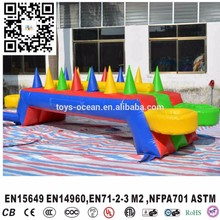 Popular Inflatable carnival sport game,funny inflatable potato games,inflatable floating ball game(China)