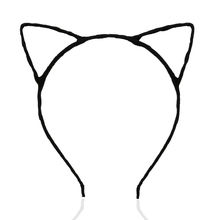 Cat Ears Wired Headband for Fancy Dress Costume Party (Black)