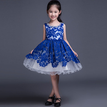 Red Royal Blue Black Lace Flower Girls Dresses for Wedding Cheap Children On Sale Prom Party Gowns Custom Holy Communion FL041