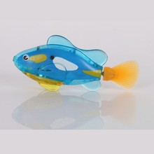 Brand New Aquarium Fishing Tank Decorating Plastic Material Funny Swim Electronic Robot Fish Activated Battery Powered(China)