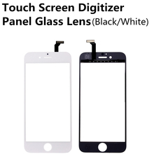New Black White Touch Screen Digitizer Panel Glass Lens for iPhone 6 4.7 inch Cheap Display Front Replacement Parts Repair Part(China)