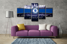 5 Panel Chelsea Football Club Modular Picture Modern Home Decoration Living Room Or Bedroom Canvas Print Painting Wall Picture