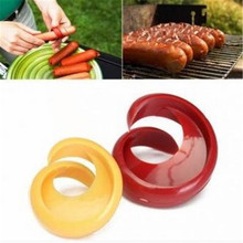 2PCs Hot Dogs Cutter Fancy Sausage Cutter Outdoor Barbecue Slicer Kitchen Gadget Grill Accessories BBQ Tools %