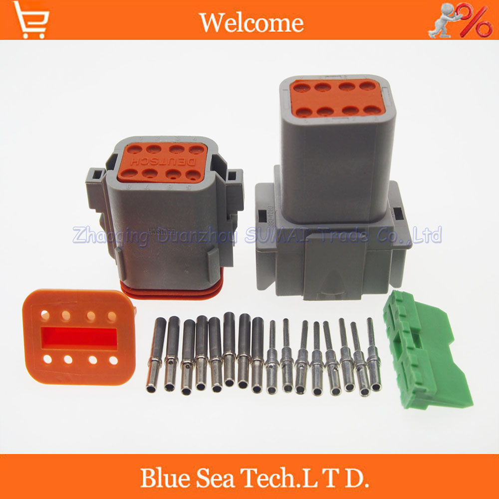 5 sets Great Terminal Deutsch DT06-8S&amp;DT04-8P 8 Pin Engine/Gearbox waterproof electrical connector for car,bus,motor,truck<br><br>Aliexpress