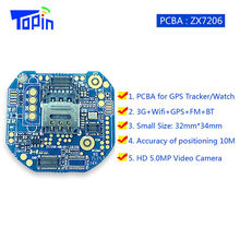 ZX7206 Super Mini 3G GPS Tracker Locator PCBA Mother Board Program Development for Android Smart Watch 3G+WiFi+GPS+FM Powerful!