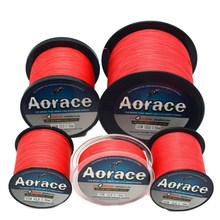 Braided Red Color Line Braided Fishing Line 4 Wires 100M/300M/500M/1KM Fishing Line Braid 100LB Super Strong PE Braid Lines(China)