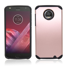 Hybrid Armor Shockproof Hard Case Dual Layer Silicone TPU+PC Phone Cover With Screen Protector For Motorola Moto Z2 Play DROID @