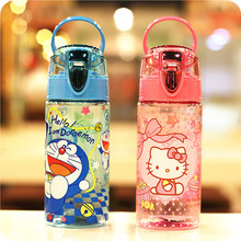 500ml or 600ml  cartoon water bottle Hello Kitty plastic water cup and tea cup water bottle kawaii water bottle