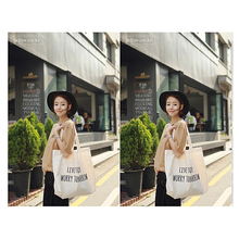 Fashion Canvas Shopping Bag Reusable Foldable Grocery Bags Durable Multifunction HandBag Travel Home Storage Tote Bag Black