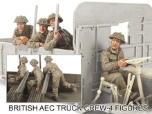 Assembly  Unpainted  Scale 1/35 British AEC Truck Crew - 4 figures  figure Historical WWII Resin Model Miniature Kit