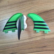 china factory directly new design strong surfboard fins thruster tri fin FCS G5 fcs fin green