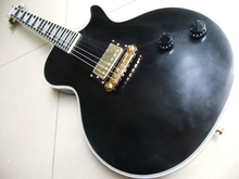 Free Shipping Cibson lp custom electric guitar ebony fretboard one piece pickups in aged black top quality 110427