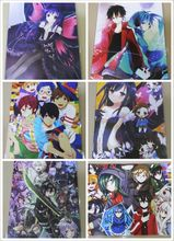 8 pcs /lot different designs Anime Seven dragon ball Blue Exorcist Accel World  NO GAME NO LIFE Touken Ranbu Emboss Posters Card