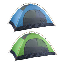 Super Lightweight Waterproof Double Layers 2 Person Tents Outdoor Camping Hiking 190T Polyester Portable Beach Tent Sunshelter(China)
