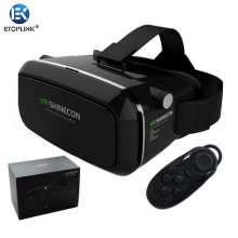 100% Original VR SHINECON Virtual Reality 3D Glasses Helmet VR BOX Movie for Samsung 4.7~6 inch Smartphone+Wireless Gamepad 1.0