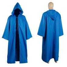 New Star Wars Jedi Sith tunic/Hooded Costume Blue/Red/White/Green Robe Cloak Cape Hoodie Halloween Carnival for adult men women