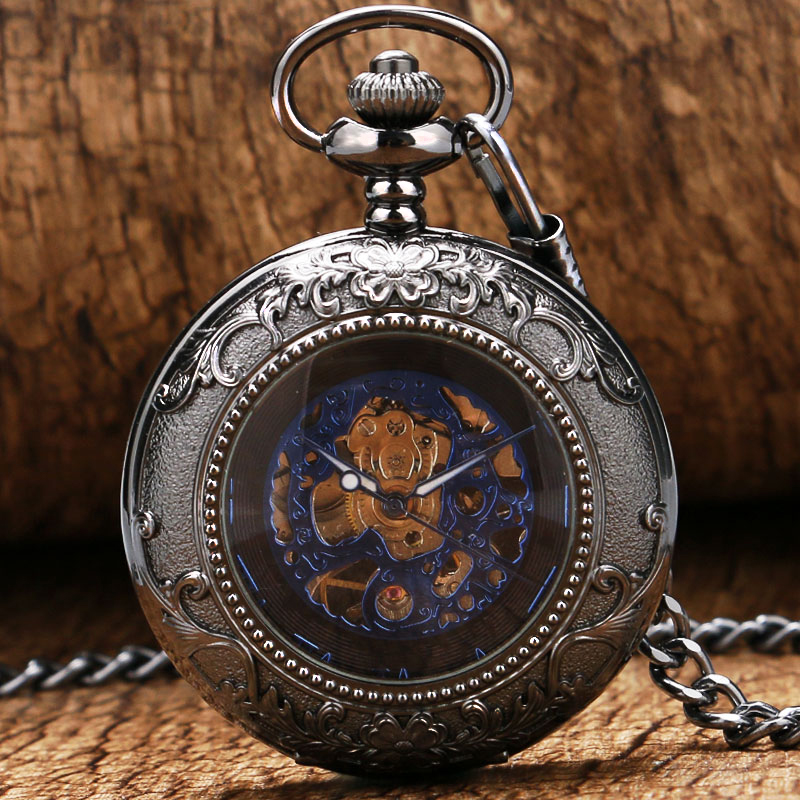 Vitage Elegant Blue Dial Pocket Watch Chain Women Mens Watches Pendant Clock High Quality P869<br><br>Aliexpress