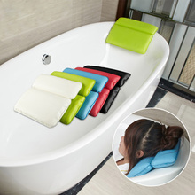 Non-Slip Bath Pillow with Two Panel Large waterproof sponge bath pillow bathtub pillow suction cups non-slip tasteless