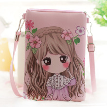 2017 Cute Kids Bags printing PU leather Girls Mini Crossbody Bag Kindergarten Baby Girl Shoulder bags Messenger bag Gift