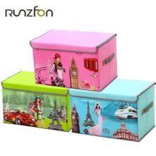 Fashion Cartoon Clothes Storage Box Washable Oxford Cloth+PP Board Underwear Bra Underwear Jewelry Socks Box Clothing Organizer