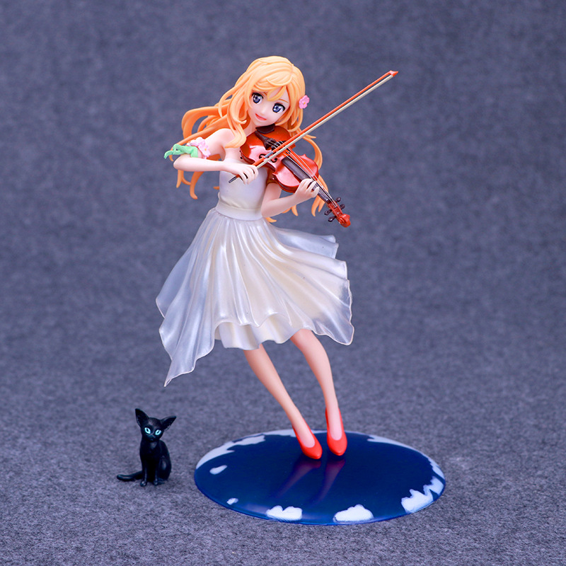 Anime Your Lie in April Miyazono Kaori Dress Ver. 1/8 Scale Pre-painted PVC Action Figure Collectible Model Toys Doll 20cm<br>