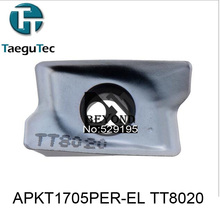 APKT1705PER-EL TT8020,Genuine Original Korea TaeguTec CNC insert use Large Medium Small mini lathe tools by turning tool holder