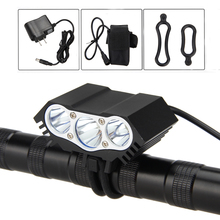 Waterproof Front Bike Headlight 7500LM 3x XM-L U2 LED Light 4 Modes Lamp with 8.4v 6400mAh Rechargeable Battery Pack and Charger(China)