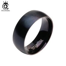 ORSA JEWELS 2017 New Arrival 100% Allergy Free Stainless Steel Rings for Men and Women Hot Sale Black Men Ring Wholesale OTR01