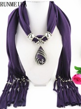 [RUNMEIFA] fashion jewelry crochet scarf with beads