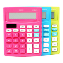 2017 Colorful Solar Mini Desktop Calculator Office Electronic Calculadora Student Stationery Supplier High Quality Calculatrice(China)
