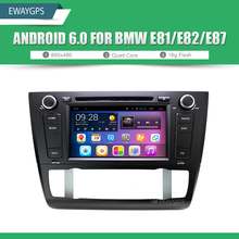 Quad Core Android 6.0 Car DVD Player Stereo For BMW E87 E81 E82 1024*600 Bluetooth gps navigation Wifi Steering Wheel EW806P6QH
