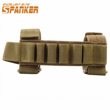 Spanker Tactical Shotgun Buttstock Hunting Shell Holder Ammo Carrier Holder Pouch Cartridge 7 Round for Outdoor Sport Black