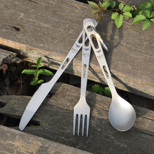 keith Titanium Tableware Sets Knife Fork Spoon Portable Cutlery Outdoor Camping Travelling Picni Dinnerware Set Flatware