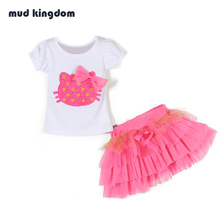 Mud Kingdom Girls Dress Hello Kitty Clothes Children Clothing Bosudhsou Roupas Infantis Menina Kids Clothes Baby Girl Clothes
