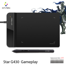 The XP-Pen G430 4 x 3 inch Ultrathin Graphic Drawing Tablet for Game OSU and Battery-free stylus- designed! Gameplay(China)
