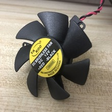 High quality ultra quiet 5010 Graphics card fan blade 45MM Diameter 39mm Hole Pitch 12V 0.1A fan blade 2pin(China)