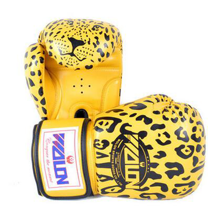 New Style Leopard luvas muay thai Boxeo Mitts MMA/Martial/Fighting/Punching Bag Training PU+EVA Material Boxing Gloves For Men<br><br>Aliexpress