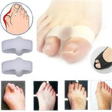 1 Pair Of Women Gel Toe Straighteners Separator Bunion Corrector Pain Relief Foot Care Tool NEW