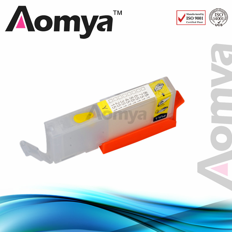 1pcs PGI-451 Yellow Empty Refillable Ink Cartridge For Canon PIXMA MG5440/ iP7240/ MG6340 Printer With Chip Without Ink<br><br>Aliexpress