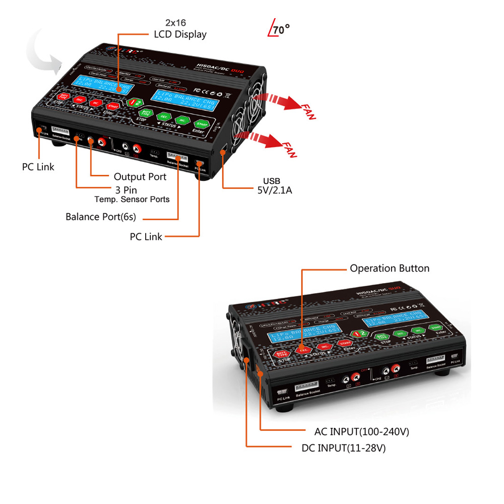 HTRC H150 AC DC DUO 150W 12A Balance charger (7)