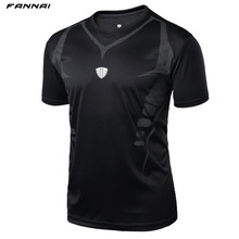Men Outdoor sports Running Fitness Morning run Tennis Breathable badminton male t-shirt Walking jogging tops sport shirts tees(China)
