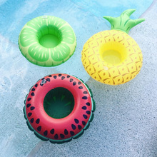 6pcs/lot hot!! little flamingo Inflatable Drink Can Holder watermelon lemon pineapple Bath Toy Pool Swim Ring Water Fun Pool Toy