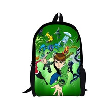 Drop shipping 2018 Children Backpacks Cartoon Ben 10 Backpack Students Boys Bagpack Ben10 School Bags Teenagers Kids Mochila